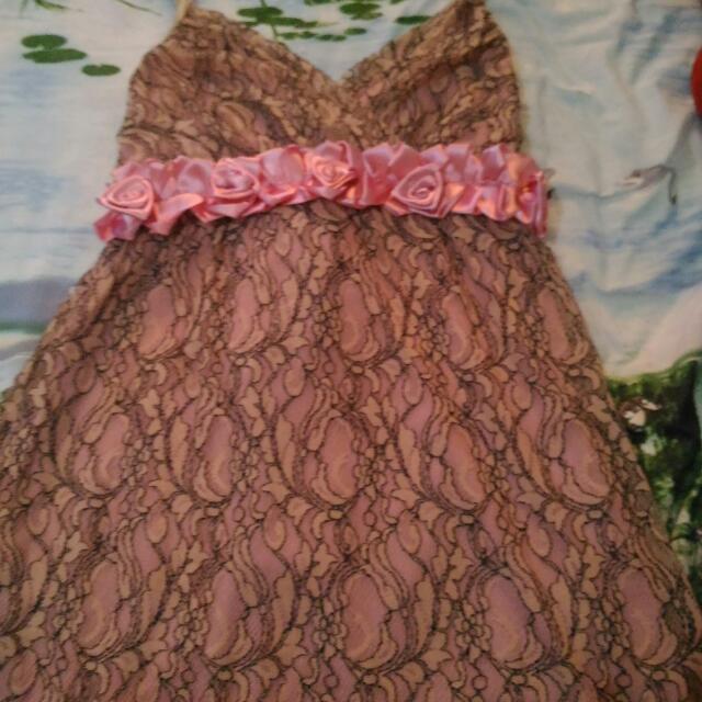Medium Pink Flower Style Dress