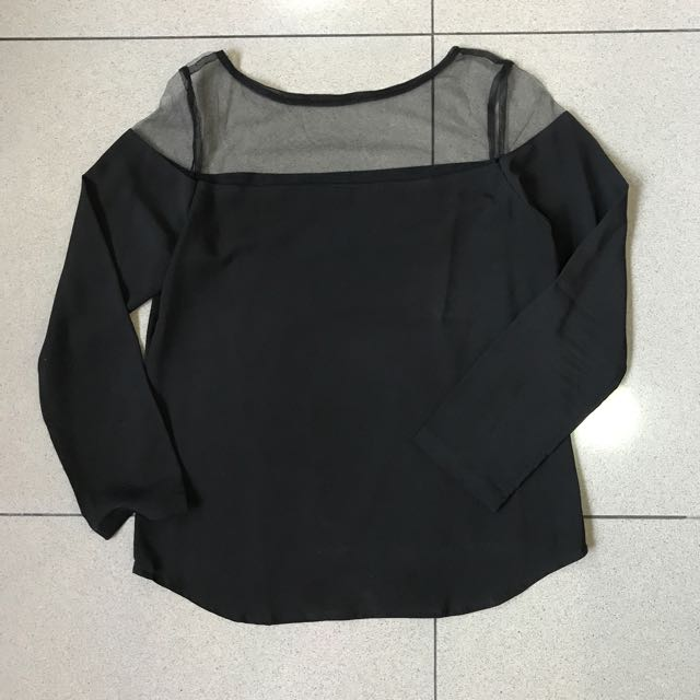 Mesh Black Blouse