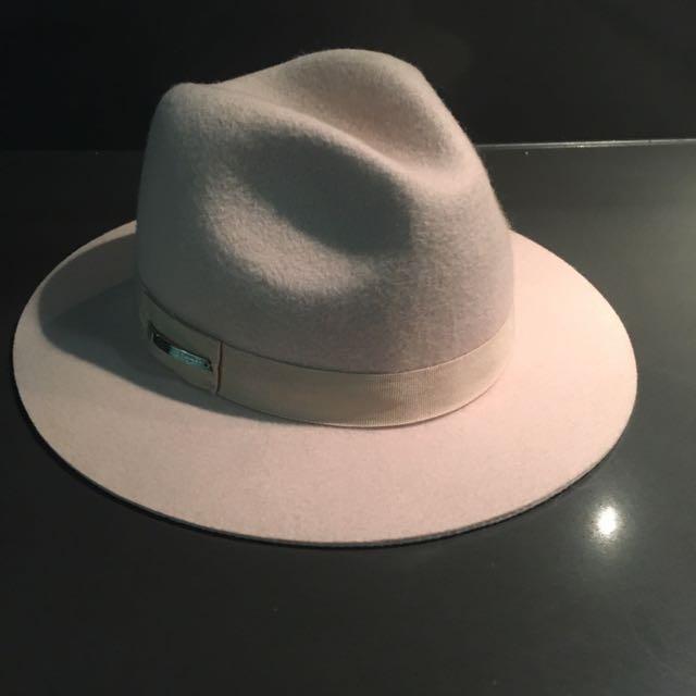 MIMCO Blush Pink Wool Hat