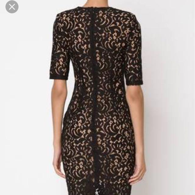 Misha Collection Lace Midi Dress
