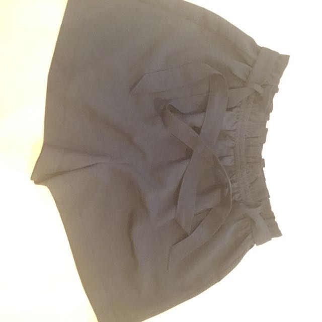 Miss Shop Elasticated Paper Bag Waist Shorts With Tie