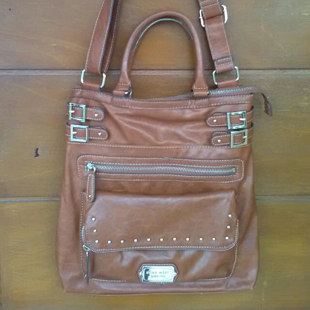 Nine West Brown Shoulder Bag