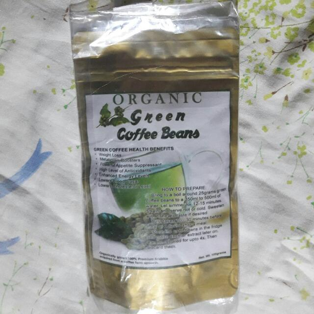 Organic Green Coffee Beans 100g