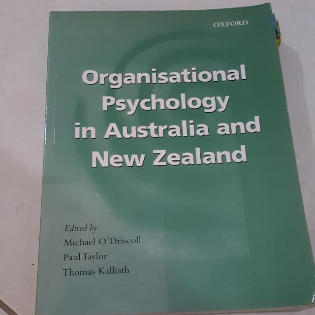 Organizational Psyhology In Australia and New Zealand