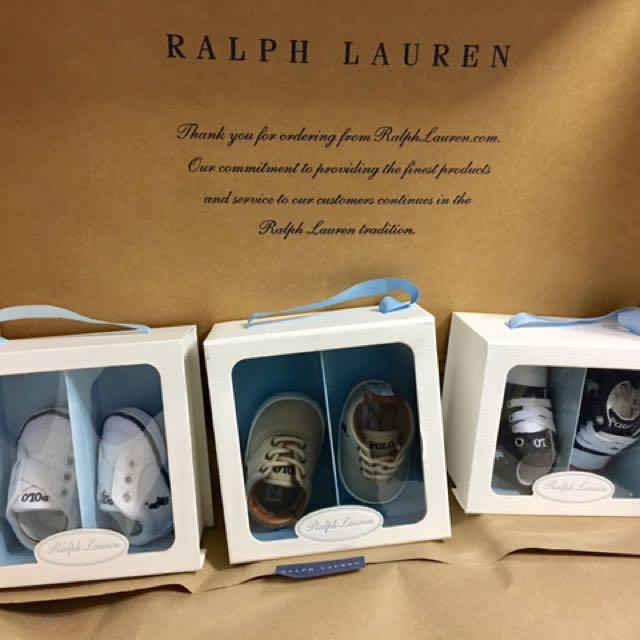 3 Pairs Original Ralph Lauren Shoes For Babies