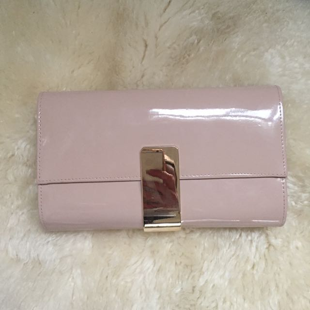 Pale Pink Large Clutch