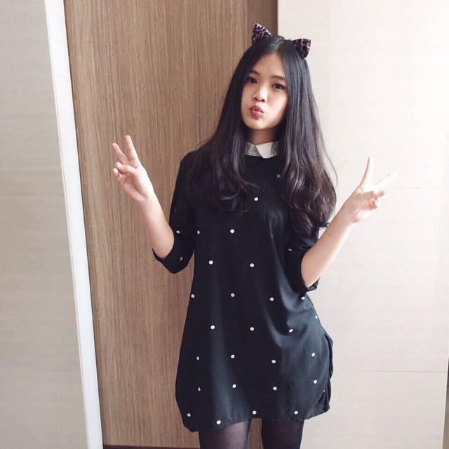 Polka Collar Dress