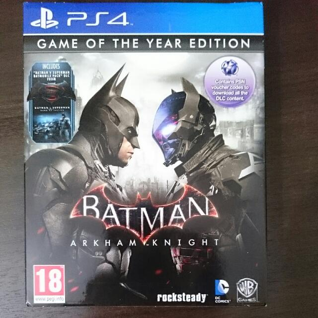 PS4 Batman Arkham Knight PRE-OWNED (DLCs Redeemed) FIXED