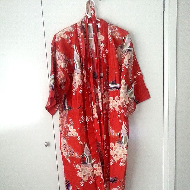 Red Peacock Authentic Kimono
