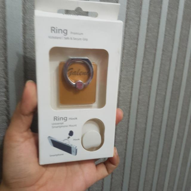Ring Selfie Cincin Kicksrand iRing Hook Smartphone Hp Phone Car Mount