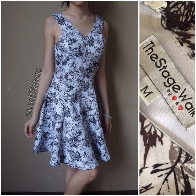 Scuba Flare Dress