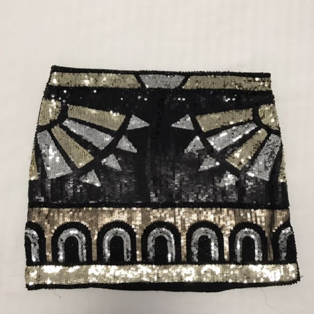 Sequenced Mini Skirt
