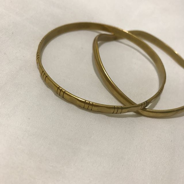 Set Of Two Gold Bracelets