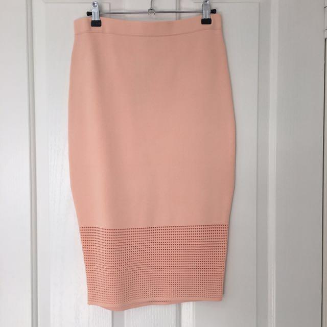 Sheike Apricot Midi Skirt