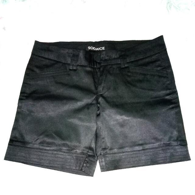 Short Satin Black Size S