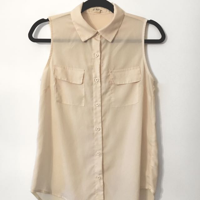 Sleeveless blouse [Forever 21]
