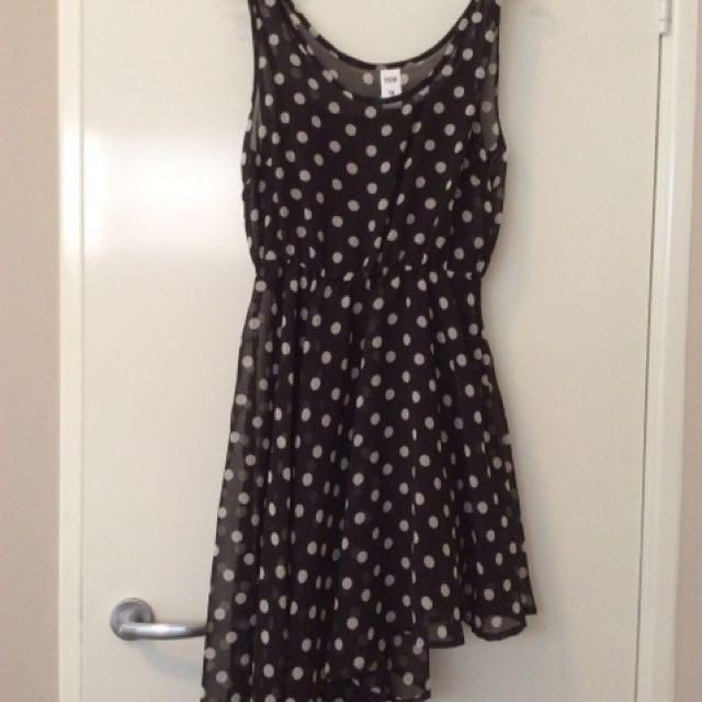 Spotted Asymmetrical Dress