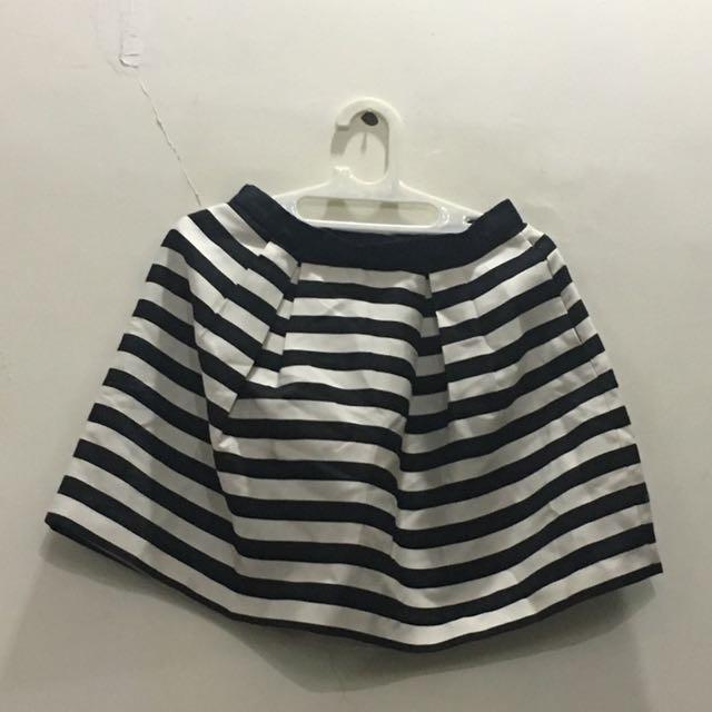 Stripes Mini Skirt H&M