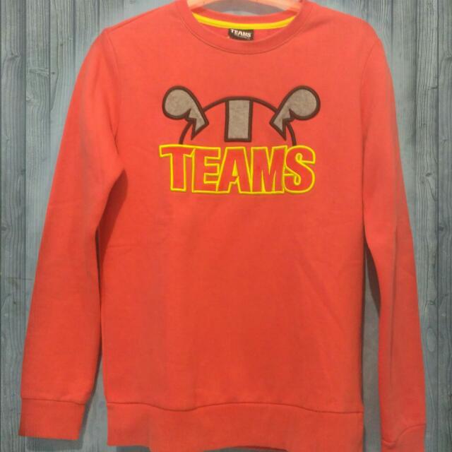 """Sweater Lucu Tulisan Jahit Timbul """"TEAMS"""""""