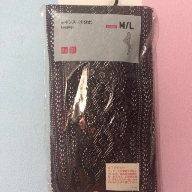 Uniqlo Legging/tight Black Motif