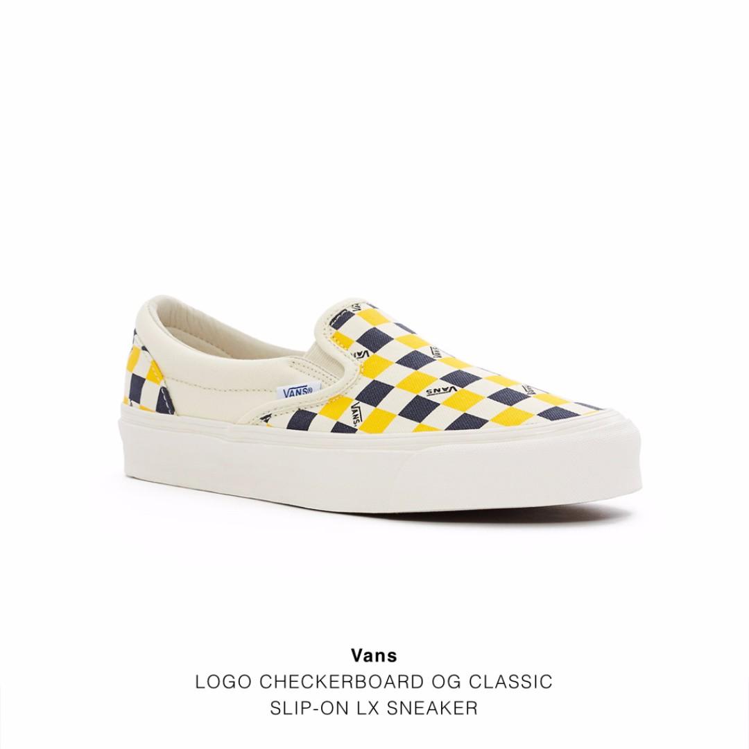 Vans LOGO CHECKERBOARD OG CLASSIC SLIP-ON LX SNEAKER 棋盤格 男女尺寸皆有