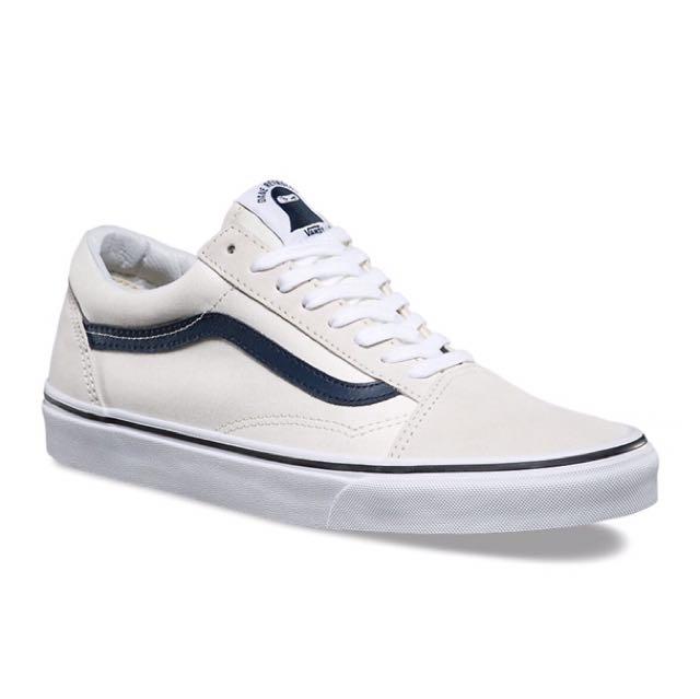 韓國Vans Style Old Skool 單寧麂皮白藍色  NAVY ONLY