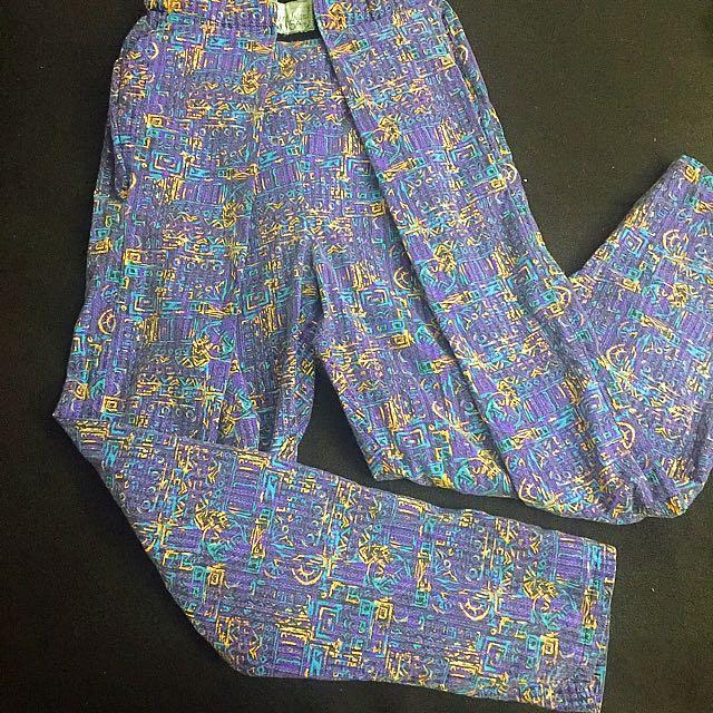 Vintage Patterned Pants