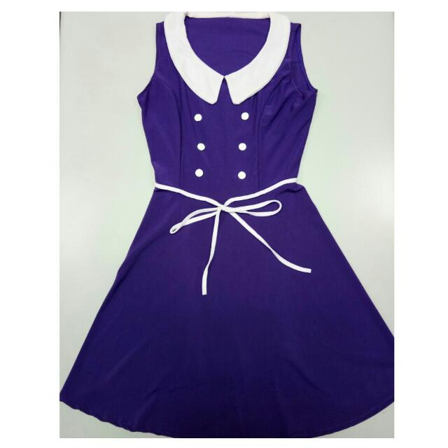 Baby Collared Violet Dress