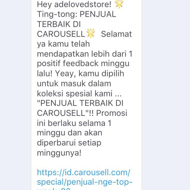 YAAYY AGAIN!! Thankyou Carousell! 😍🎉💕