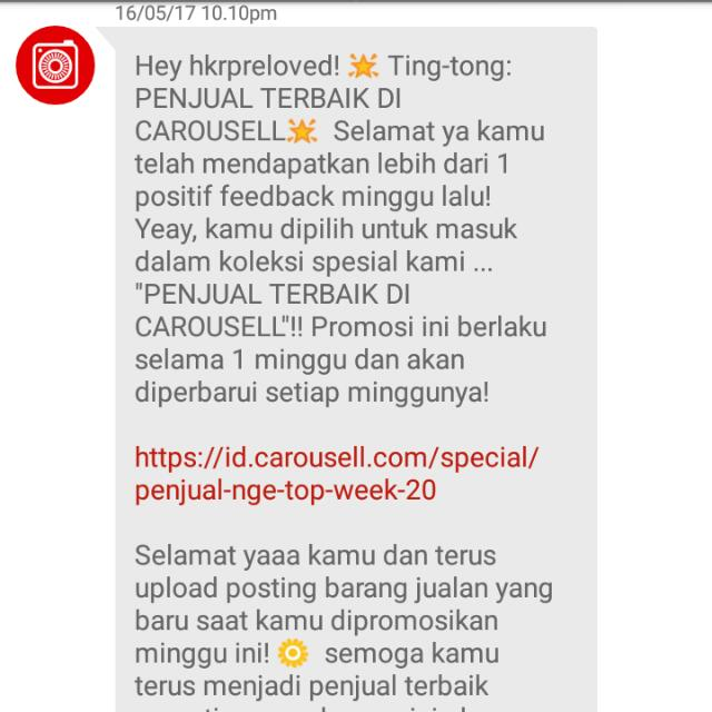 Yeiy, Thank You Carousell 😘