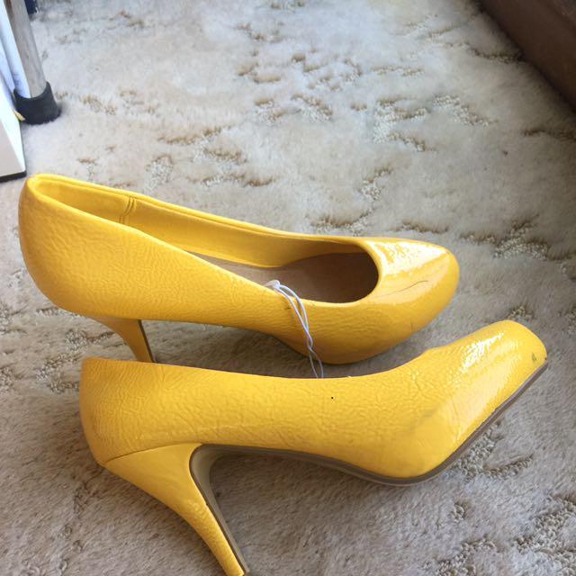 Yellow Heel Pumps #EOFYSALE