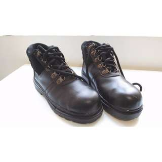 Black Leather Safety Shoes