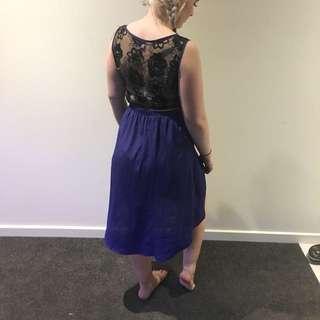 Purple Lace Back Dress