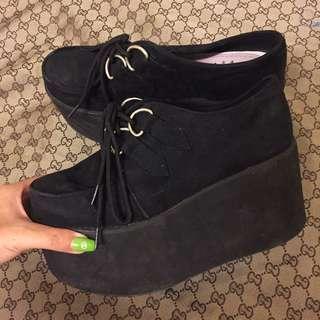 綁帶厚底鞋