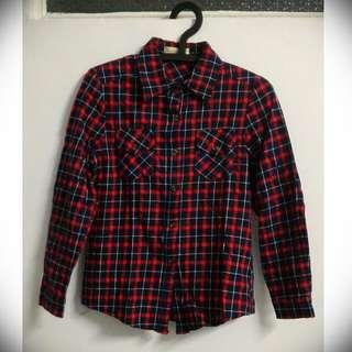 #一百元上衣 👕紅格紋 襯衫