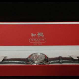 Authentic Coach Watch  With Leather Strap