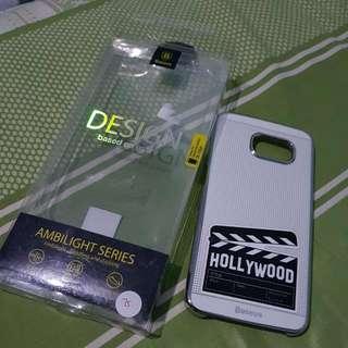 Baseus Original Slim Case Samsung S6edge ! White.. Free Stiker Garskin ...