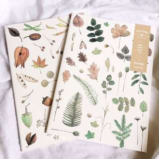 Watercolor plants notebook
