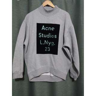 Acne Studios Grey Beta Flock Oversized Sweatshirt *REPRICED*
