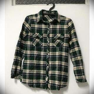 #一百元上衣 👕綠格紋 襯衫