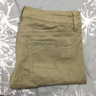 American Eagle Khaki Leggings Size 2