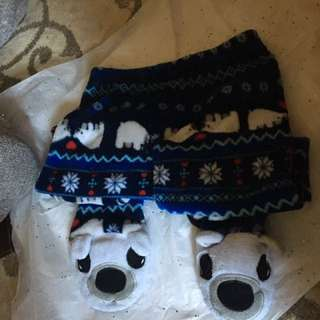 Polar Bear Feet Penguin Pyjama Pants