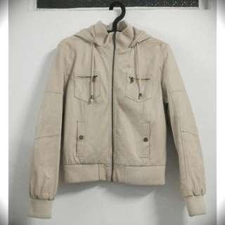 #一百元外套 👕NET 米白皮外套