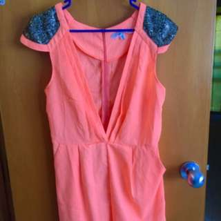 Neon Orange Playsuit