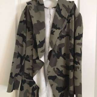 CAMO HOODED CARDIGAN FROM HONEY