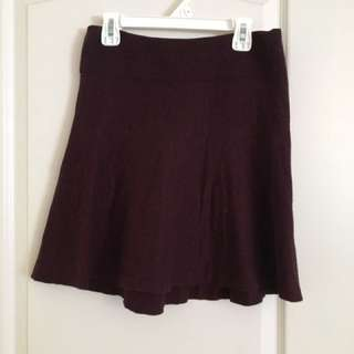 GARAGE BURGUNDY SKATER SKIRT