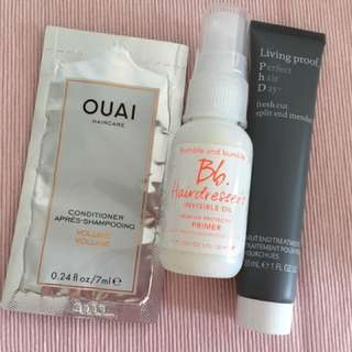 OUAI-Living Proof-Bubble Bumble Deluxe Sample Set
