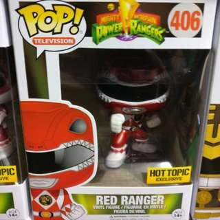 Red Ranger Metallic Hot Topic Exclusive Funko Pop