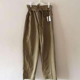 Zara Paperbag Waist Pants