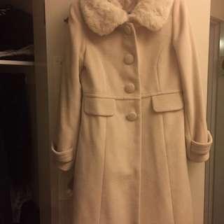 Cream Beige Winter Coat